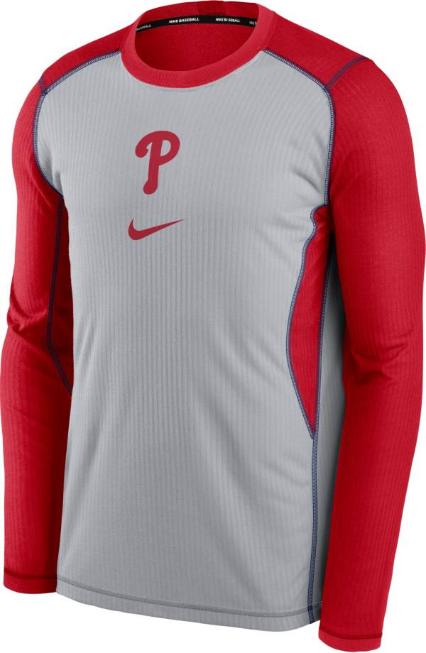 Nike Men's Philadelphia Phillies Red Authentic Collection Game Long Sleeve T-Shirt product image