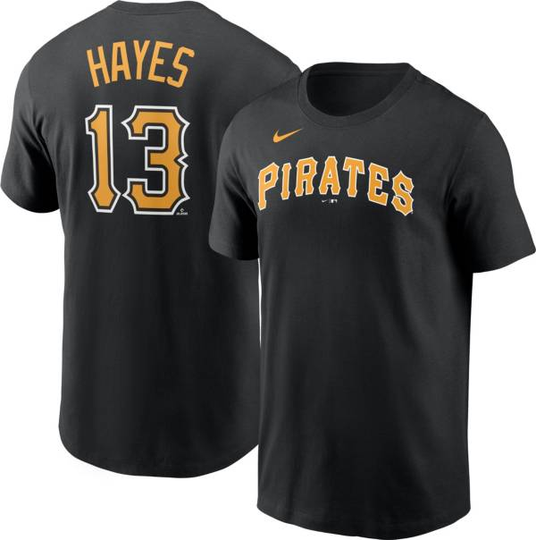 Nike Men's Pittsburgh Pirates Ke'Bryan Hayes #13 Black T-Shirt product image