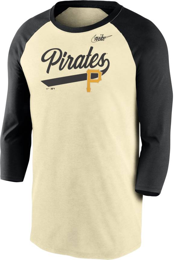 Nike Men's Pittsburgh Pirates Cream Cooperstown Raglan Three-Quarter Sleeve Shirt product image