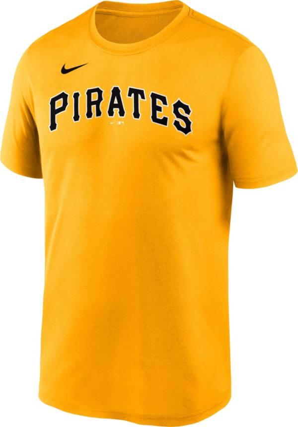 Nike Men's Pittsburgh Pirates Gold Wordmark Legend T-Shirt product image