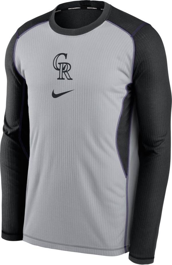 Nike Men's Colorado Rockies Black Authentic Collection Game Long Sleeve T-Shirt product image