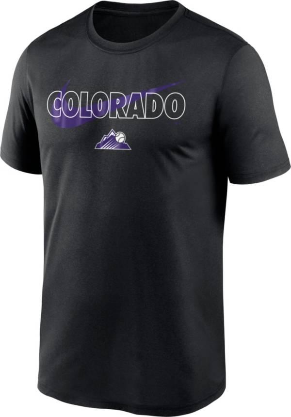 Nike Men's Colorado Rockies Black Swoosh Legend T-Shirt product image