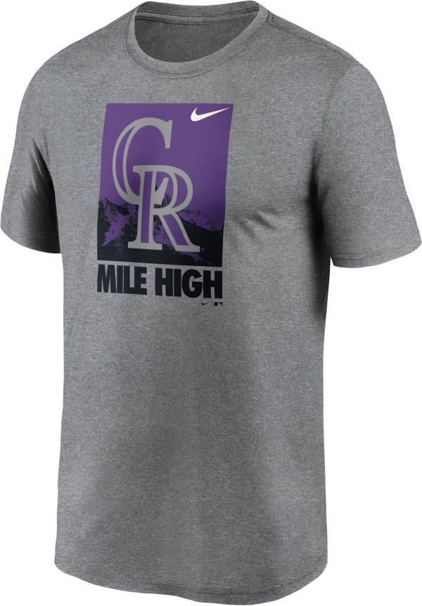 Nike Men's Colorado Rockies Gray Local Legend T-Shirt product image