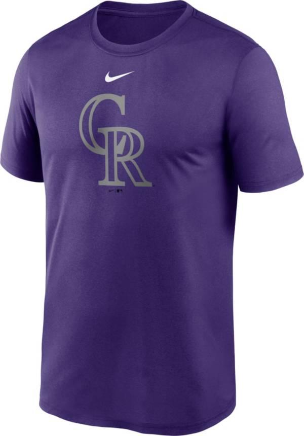 Nike Men's Colorado Rockies Purple Dri-FIT Logo Legend T-Shirt product image
