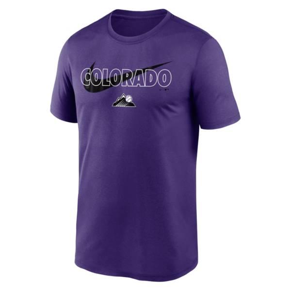 Nike Men's Colorado Rockies Purple Swoosh Legend T-Shirt product image