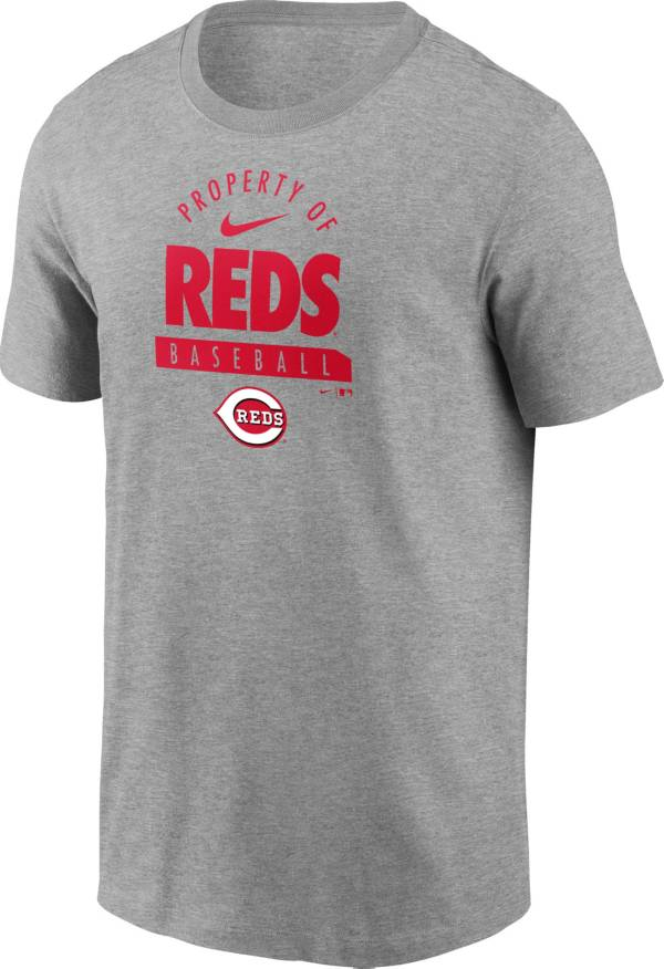 Nike Men's Cincinnati Reds Grey 'Property Of' T-Shirt product image