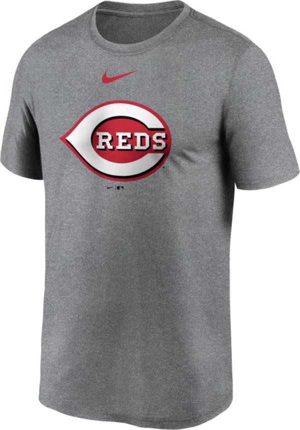 Nike Men's Cincinnati Reds Grey Logo Legend T-Shirt product image