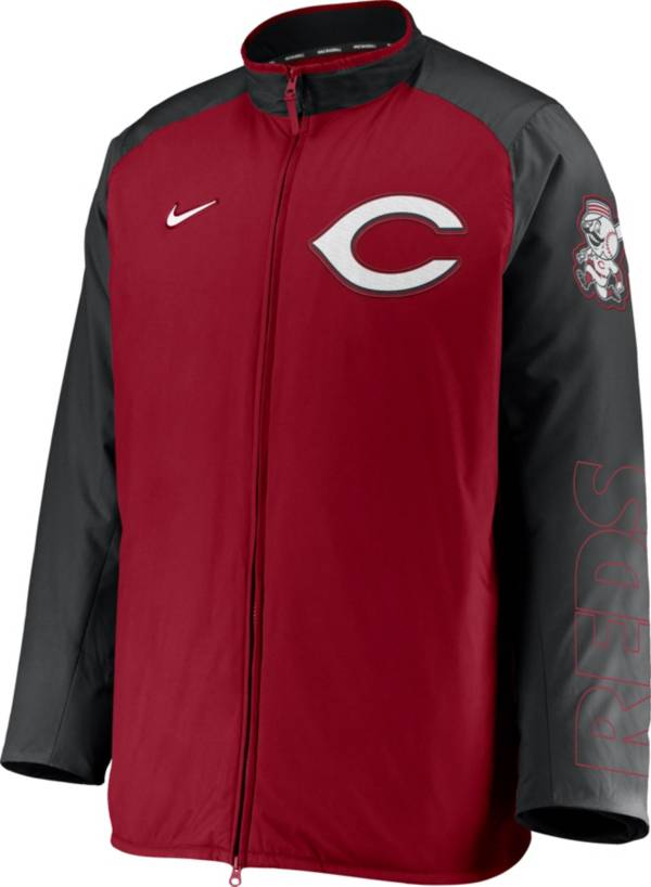 Nike Men's Cincinnati Reds Red Authentic Collection Dugout Full-Zip Jacket product image