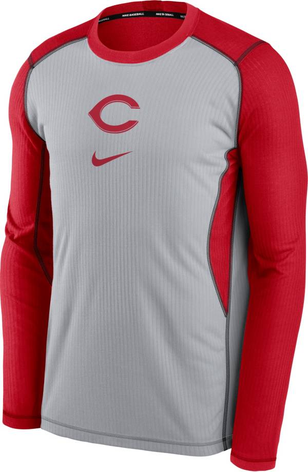 Nike Men's Cincinnati Reds Red Authentic Collection Game Long Sleeve T-Shirt product image