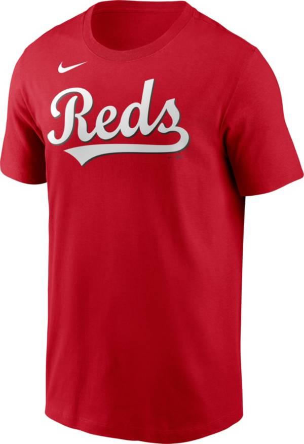 Nike Men's Cincinnati Reds Red Alternate Wordmark T-Shirt product image