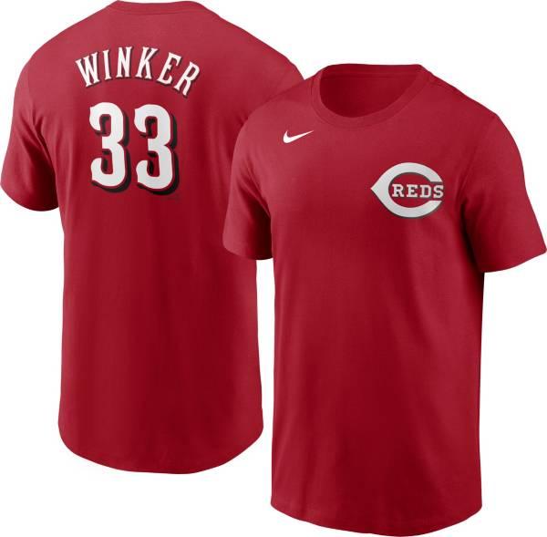 Nike Men's Cincinnati Reds Jesse Winker #33 Red T-Shirt product image