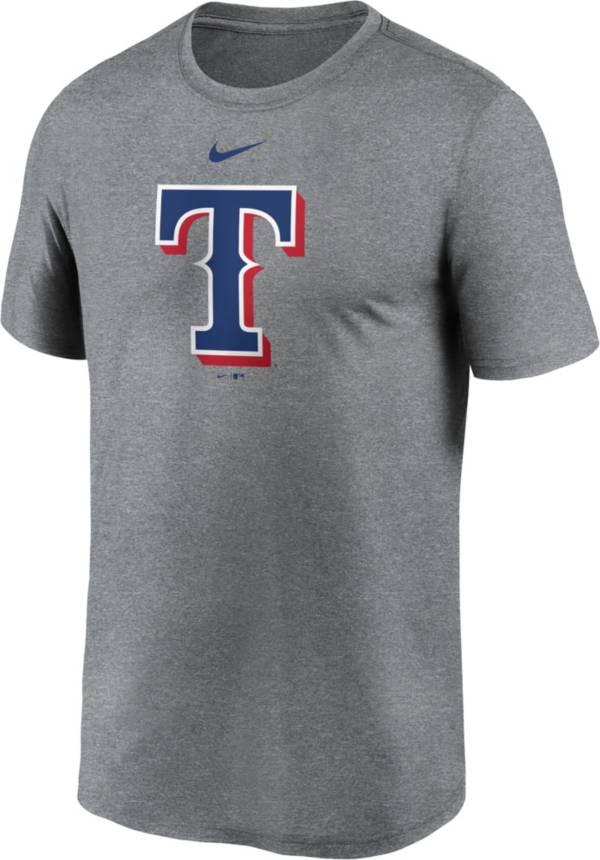 Nike Men's Texas Rangers Grey Logo Legend T-Shirt product image