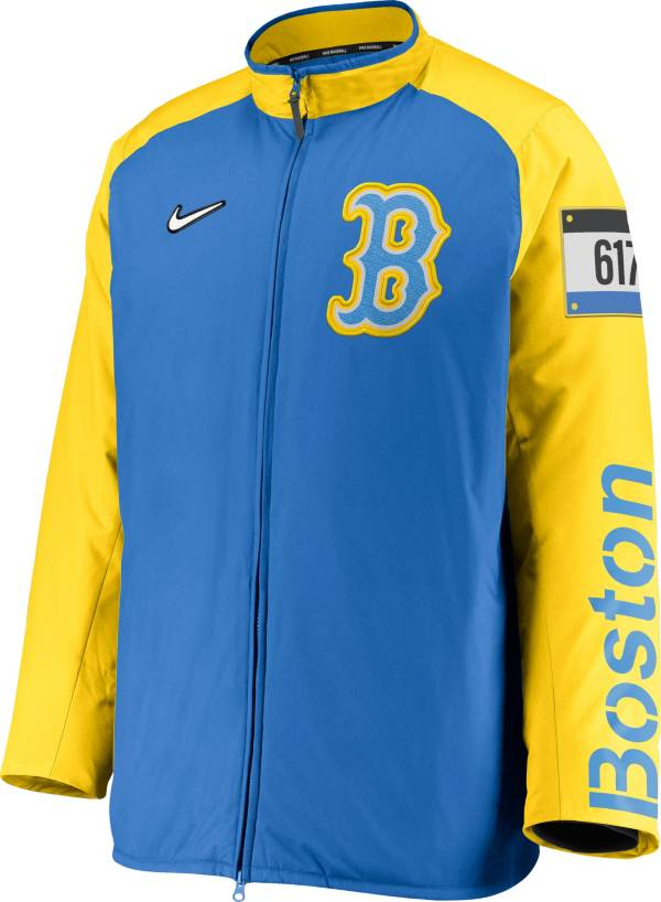 Nike Men's Boston Red Sox Blue 2021 City Connect Dugout Full-Zip Jacket product image