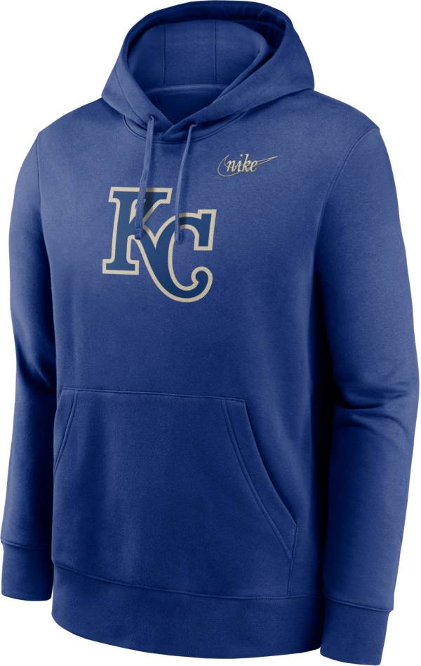 Nike Men's Kansas City Royals Navy Cooperstown Club Pullover Hoodie product image