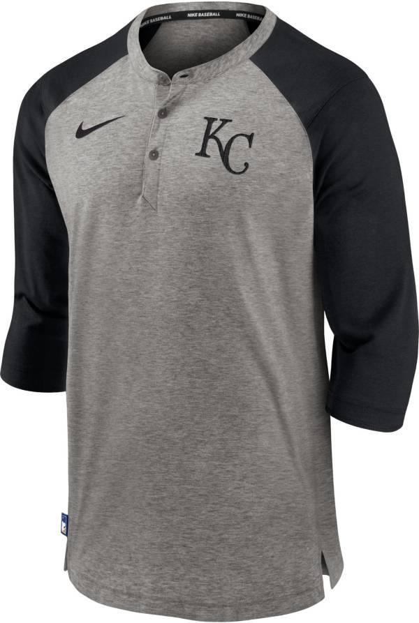 Nike Men's Kansas City Royals Gray  ¾ Flux Hoodie product image