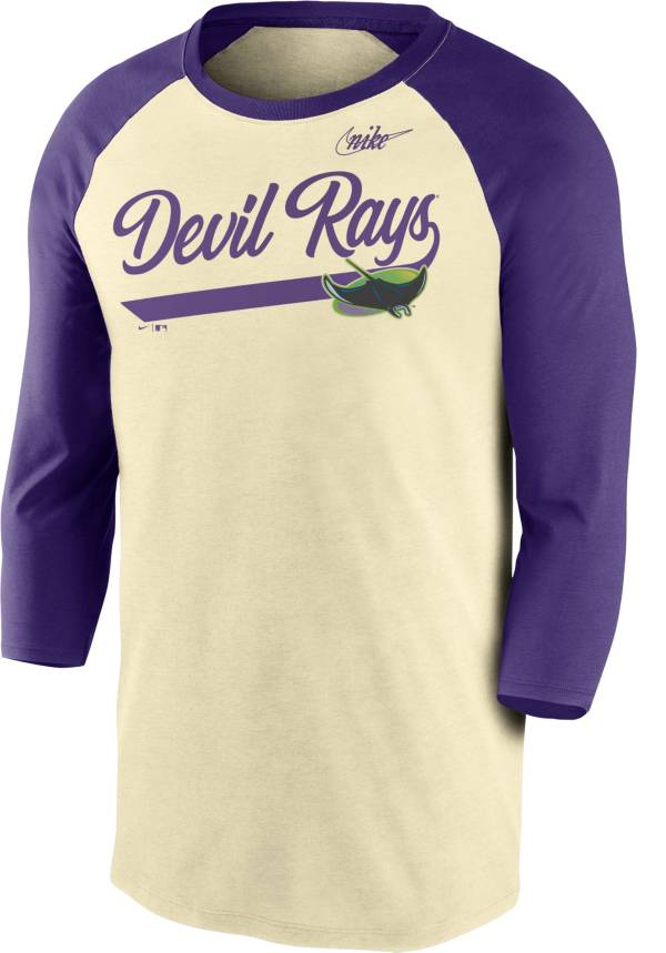 Nike Men's Tampa Bay Rays Cream Cooperstown Raglan Three-Quarter Sleeve Shirt product image