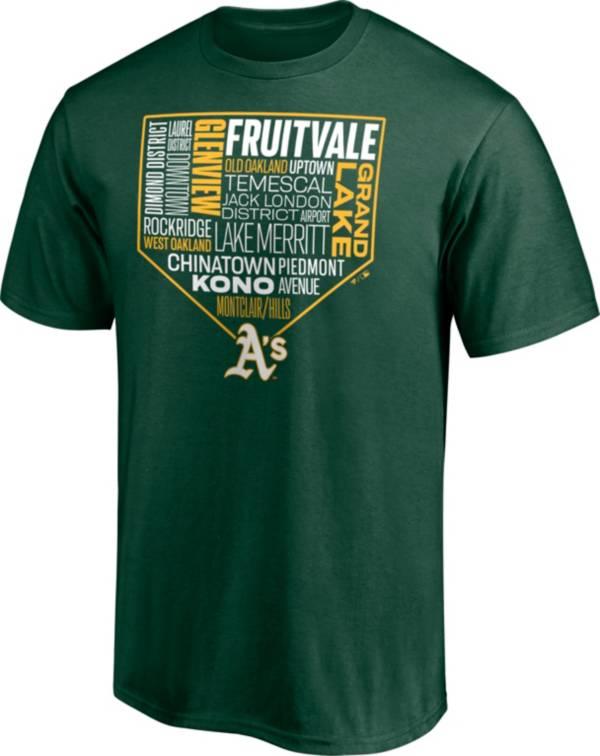 Fanatics Men's Oakland Athletics Green Neighborhood T-Shirt product image