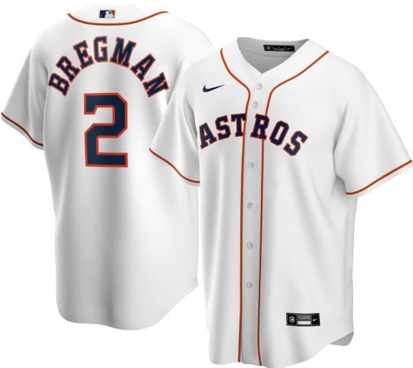 Nike Men's Replica Houston Astros Alex Bregman #2 Cool Base White Jersey product image