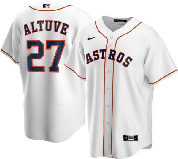 Nike Men's Replica Houston Astros Jose Altuve #27 Cool Base White Jersey product image