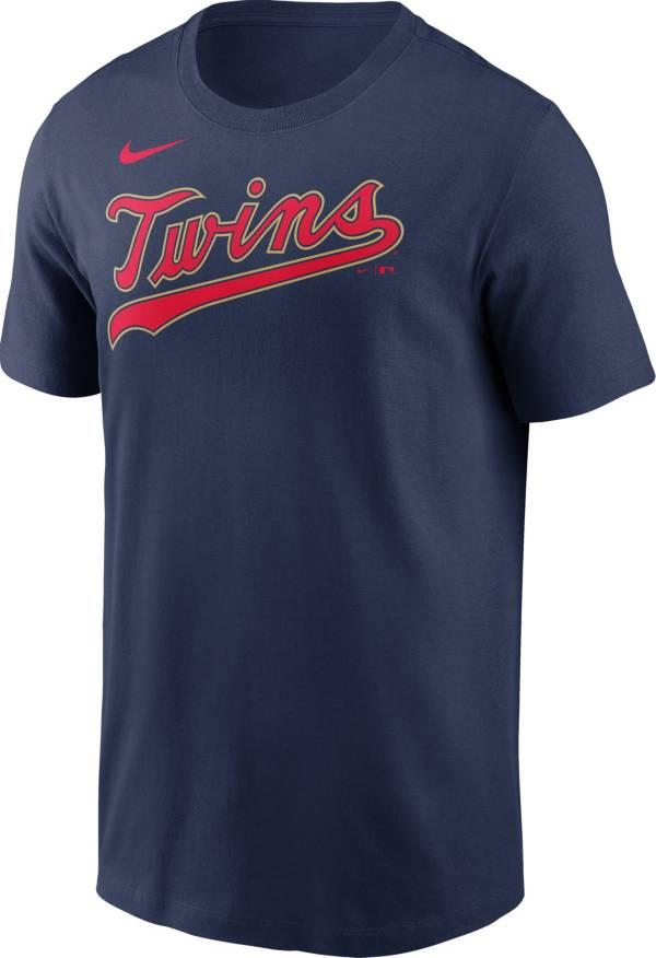 Nike Men's Minnesota Twins Navy Wordmark T-Shirt product image