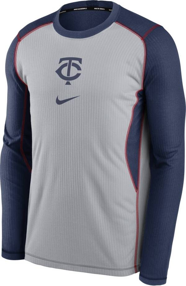 Nike Men's Minnesota Twins Navy Authentic Collection Game Long Sleeve T-Shirt product image