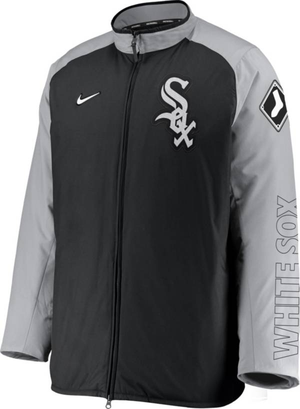 Nike Men's Chicago White Sox Grey Authentic Collection Dugout Full-Zip Jacket product image