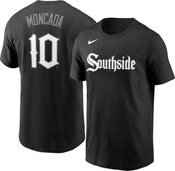 Nike Men's Chicago White Sox Yoán Moncada #10 Black 2021 City Connect T-Shirt product image