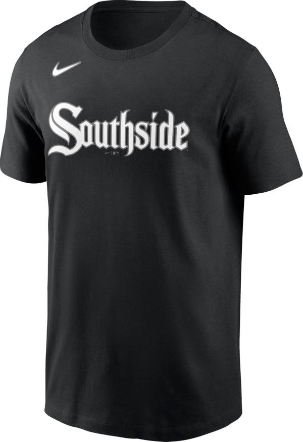 Nike Men's Chicago White Sox Black 2021 City Connect Wordmark T-Shirt product image