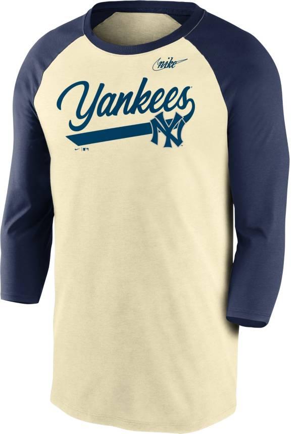 Nike Men's New York Yankees Cream Cooperstown Raglan Three-Quarter Sleeve Shirt product image