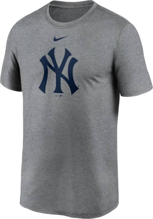 Nike Men's New York Yankees Grey Legend Logo T-Shirt product image