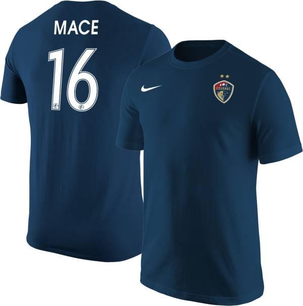 Nike North Carolina Courage Hailie Mace #16 Navy T-Shirt product image
