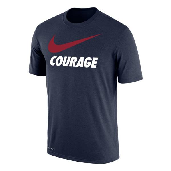 Nike North Carolina Courage Swoosh Navy T-Shirt product image