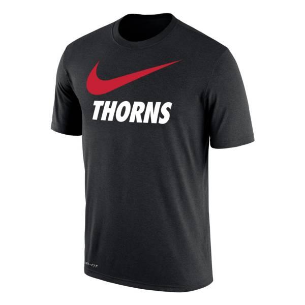 Nike Portland Thorns Swoosh Black T-Shirt product image