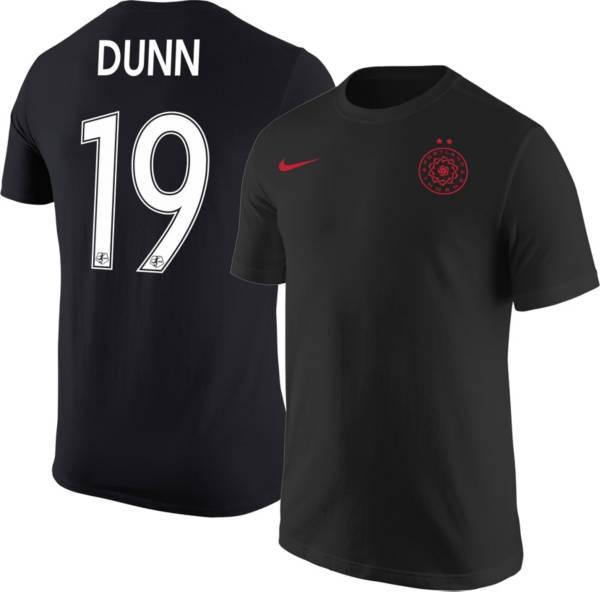 Nike Portland Thorns Crystal Dunn #19 Black T-Shirt product image