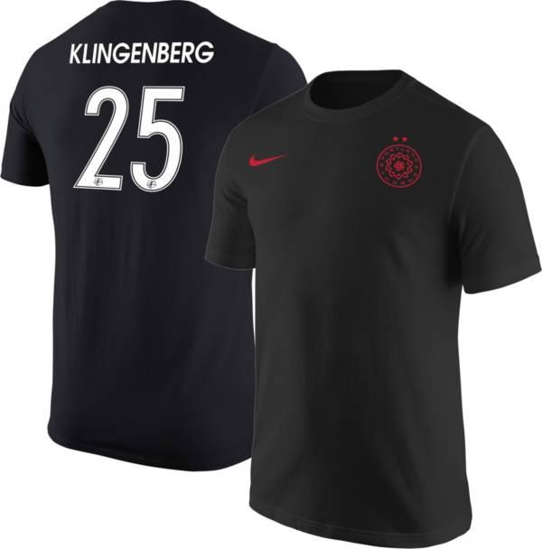Nike Portland Thorns Megan Klingenberg #25 Black T-Shirt product image