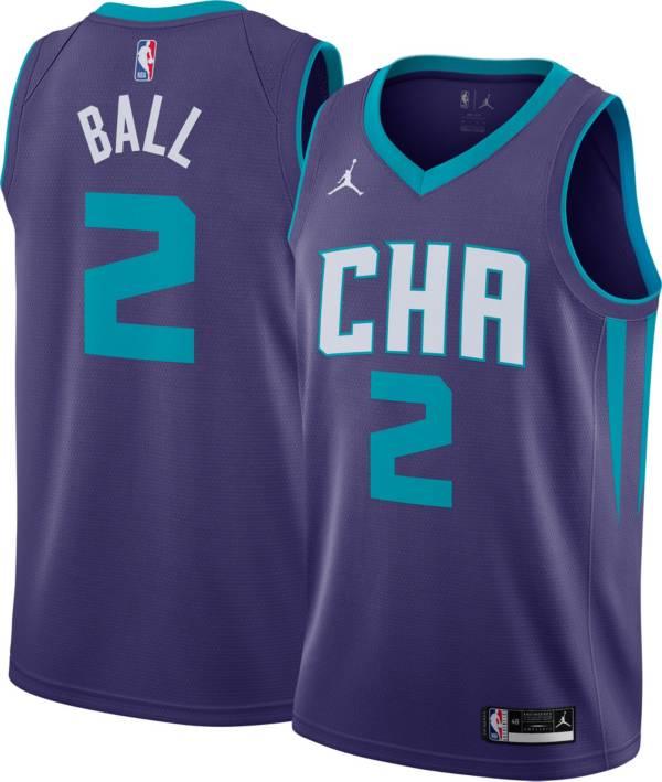 Jordan Men's Charlotte Hornets Lamelo Ball #2 Purple Dri-FIT Statement Edition Jersey product image