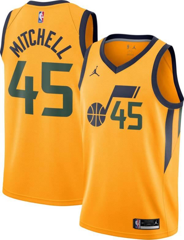 Nike Men's Utah Jazz Donovan Mitchell Orange Statement Jersey product image