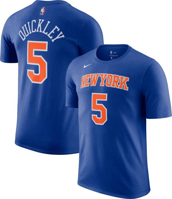 Nike Men's New York Knicks Immanuel Quickley Blue T-Shirt product image