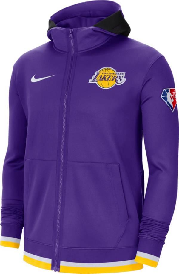 Nike Men's Los Angeles Lakers Purple Dri-Fit Hoodie product image