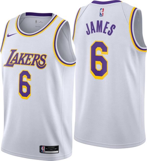Nike Men's Los Angeles Lakers LeBron James #6 Dri-FIT Association Swingman Jersey product image