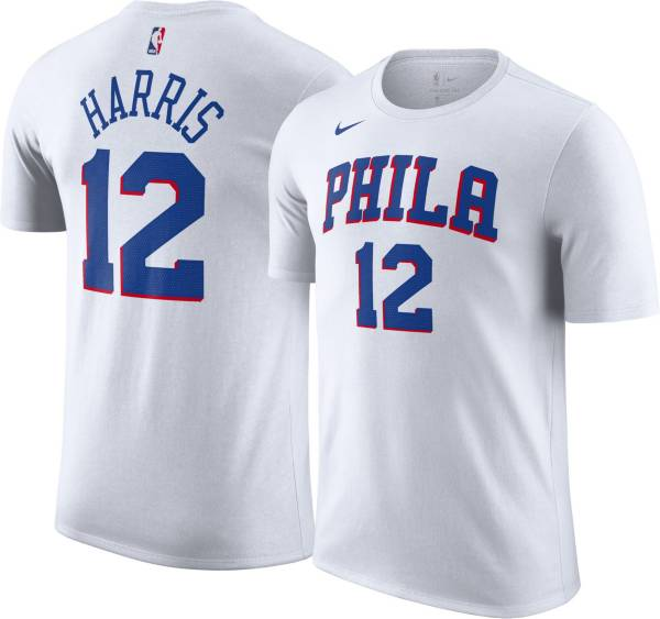 Nike Men's Philadelphia 76ers Tobias Harris #12 White Icon T-Shirt product image
