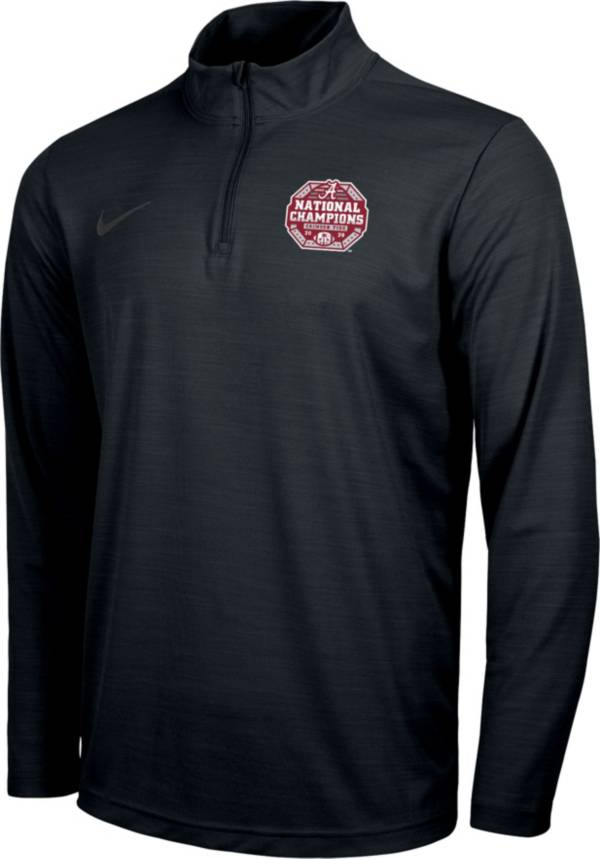 Nike Men's 2020 National Champions Alabama Crimson Tide Intensity Quarter-Zip Pullover Shirt product image