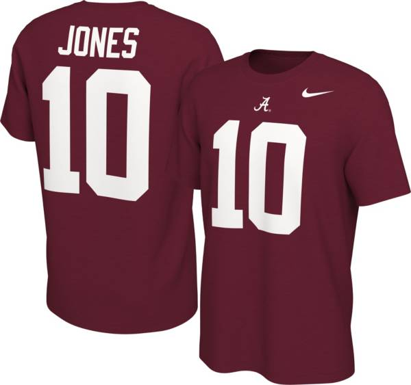 Nike Men's Alabama Crimson Tide Mac Jones #10 Crimson Football Jersey T-Shirt product image