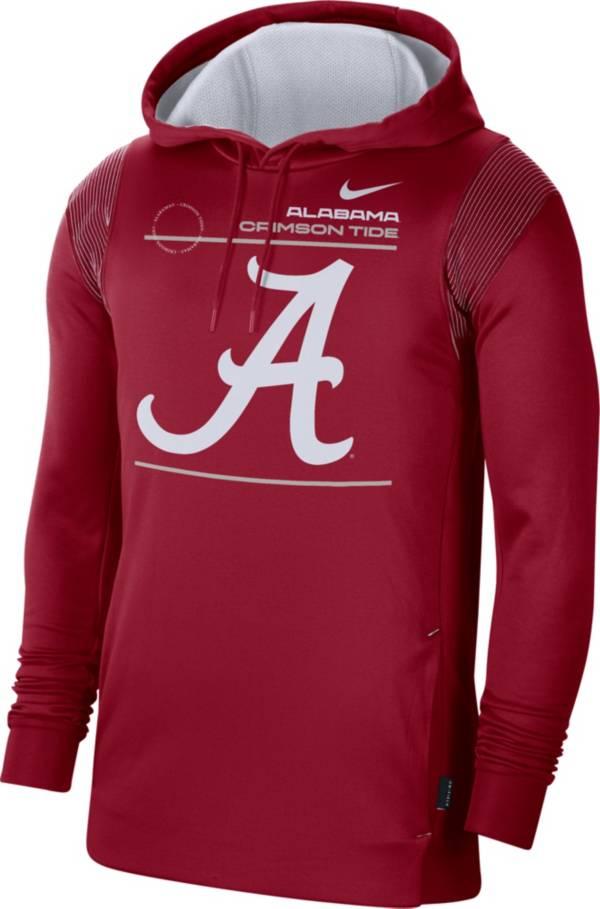 Nike Men's Alabama Crimson Tide Crimson Therma Performance Pullover Hoodie product image