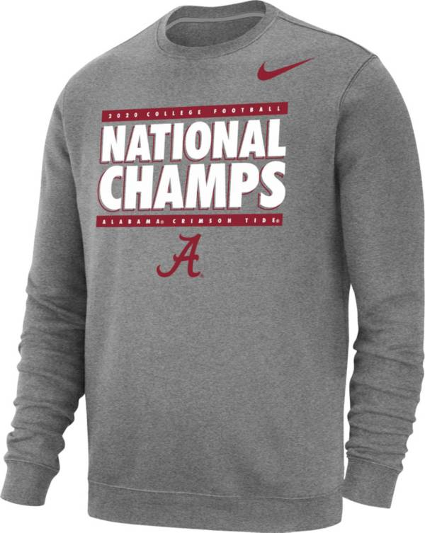 Nike Men's 2020 National Champions Alabama Crimson Tide Crew Pullover Sweatshirt product image