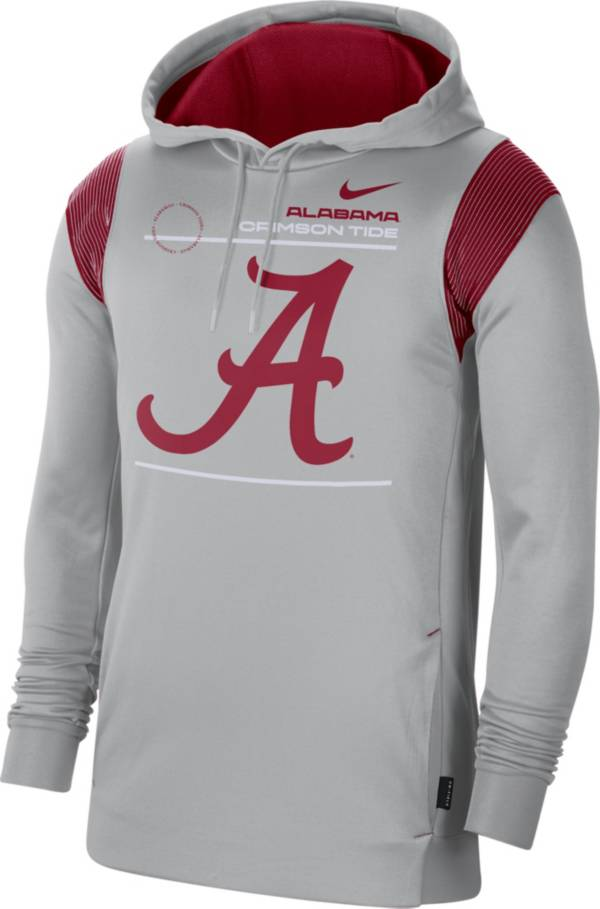 Nike Men's Alabama Crimson Tide Grey Therma Performance Pullover Hoodie product image