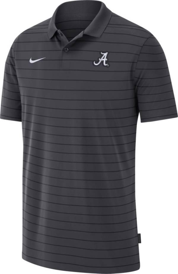 Nike Men's Alabama Crimson Tide Grey Football Sideline Victory Polo product image