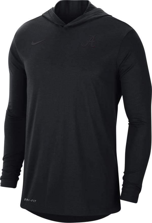 Nike Men's Alabama Crimson Tide Black Dri-FIT Vapor Pinnacle Long Sleeve Hoodie T-Shirt product image