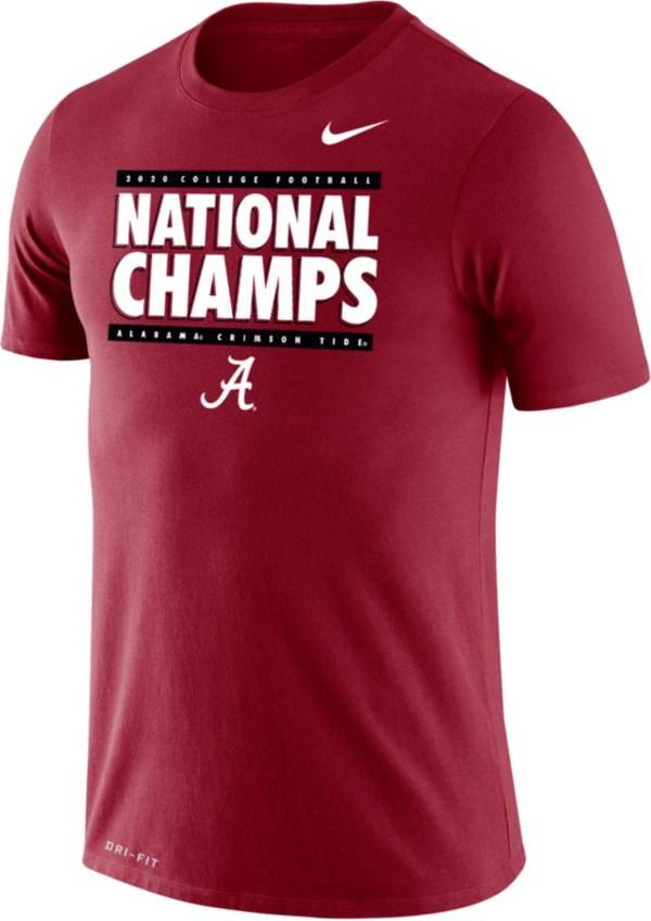 Nike Men's 2020 National Champions Alabama Crimson Tide Cotton Performance T-Shirt product image