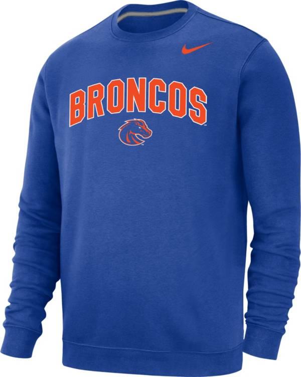 Nike Men's Boise State Broncos Blue Club Fleece Crew Neck Sweatshirt product image